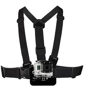 Brustgurt Halterung - Kompatibel mit GoProHero 1 - 2 - 3 - Chest Mount Harness für Sportkameras - Gurt für GoPro