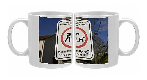 Photo Mug Of Please Clean Up After Your Dog Sign