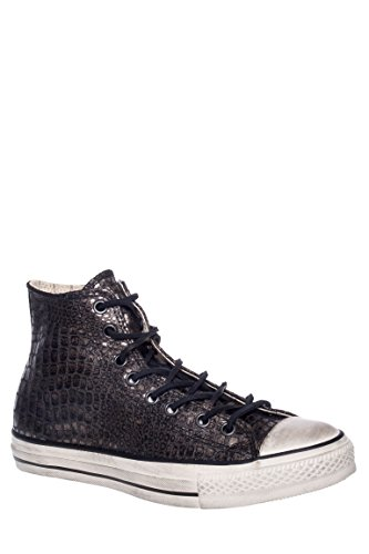 Men's CT All Star Reptilian Leather High Top Sneaker
