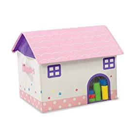 Home Sweet Home Cottage Storage Bin Treasure Box in Pink