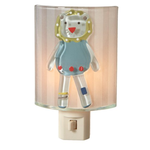 Midwest CBK Fused Glass Lion Night Light - 1