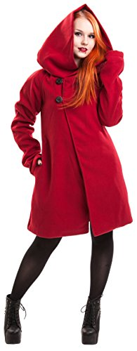Poizen Industries -  Cappotto  - Donna rosso Large