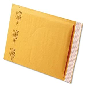 Quality Park Sealed Air Jiffy Lite Cushioned Mailers, Self Seal, #2, 8.5 x 12 Inches, Pack of 100 (SEL39093)