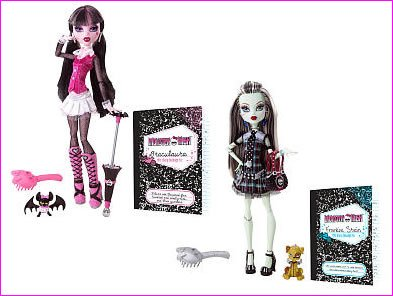 Imagen de Monster High Dolls Draculaura y Frankie Stein