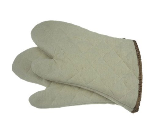 Tangchu Professional Insulated Oven Mitts/Gloves Heat-Resistant Baking Glove Small Size 9.45 Cream front-539902
