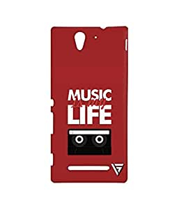 Vogueshell Music Is My Life Printed Symmetry PRO Series Hard Back Case for Sony Xperia C3