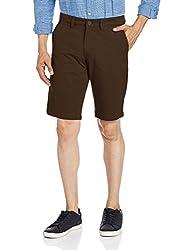 The Indian Garage Co. Men's Cotton Shorts (SHORT601-Brown_30)