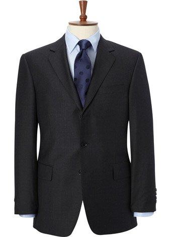 Austin Reed Regular Fit Charcoal Gaberdine Jacket REGULAR MENS 40