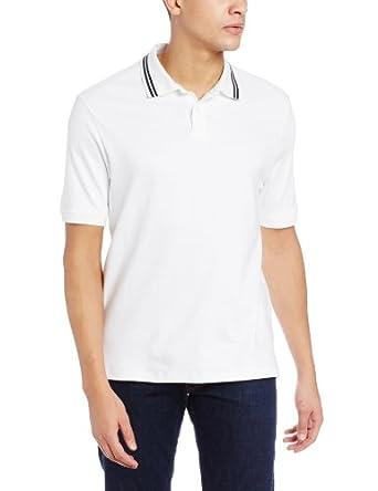 Geoffrey Beene Men's Liquid Luxe Classic Fit Polo, Bright White, Small
