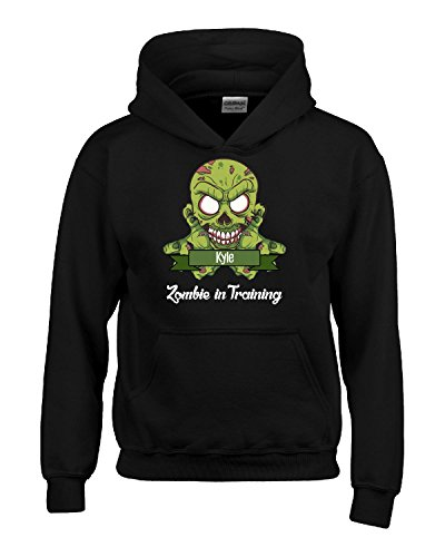 Halloween Costume Kyle Zombie In Training Funny College Humor Gift - Kids Hoodie