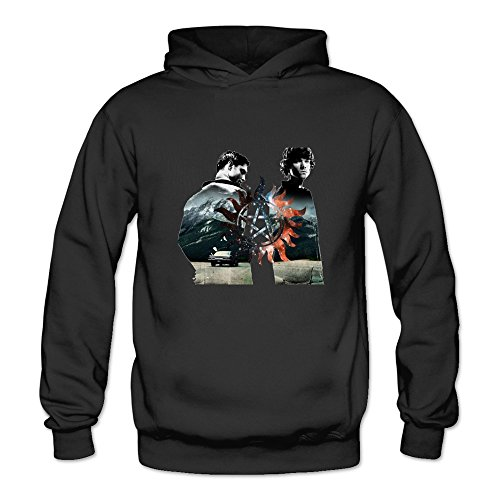 Crystal Men's Supernatural Dean Sam Winchester Long Sleeve Hoodies Black US Size XL (Sam And Dean Doll compare prices)