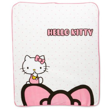 Hello Kitty Blanket: Dots & Bow