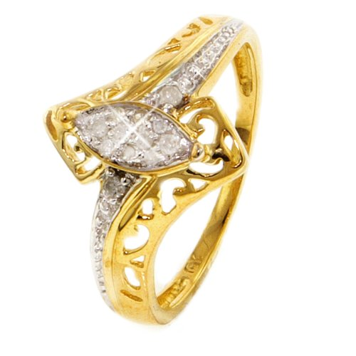 10k Yellow Gold Diamond Promise Ring
