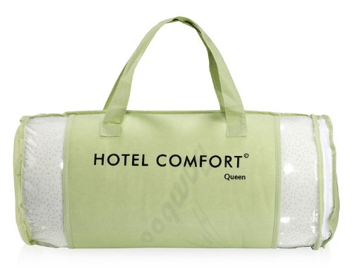 Hotel comfort bamboo covered memory foam pillow queen for Comfort inn pillows