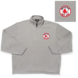 Antigua Boston Red Sox MLB Glacier Fleece Pullover Sweatshirt (Heather) (X-Large)... by Antigua