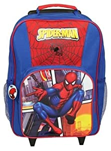 Spiderman Kids Wheeled Bag, Box Style And Carry Handle Zipped