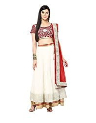 Yepme Jacinta Lehenga Choli Set - Off White & Red -- YPMLEHG0076_Free Size