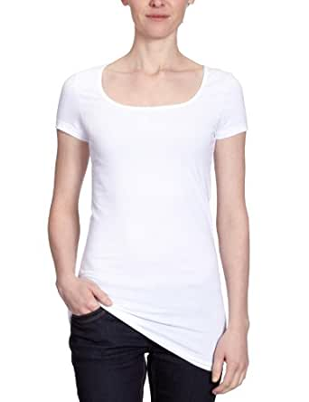 Vero Moda 10059321 - T-shirt - Uni - Manches courtes - Femme - Blanc (Opt.White) - FR: 34 (Taille fabricant: XS)