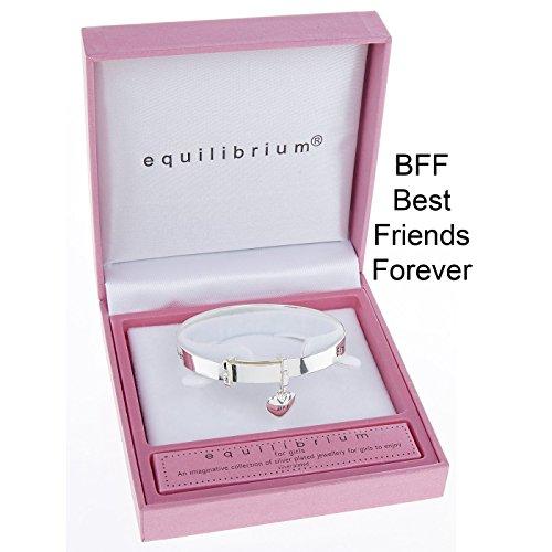 """Equilibrium - Braccialetto per ragazza con scritta """"Best friends forever"""""""