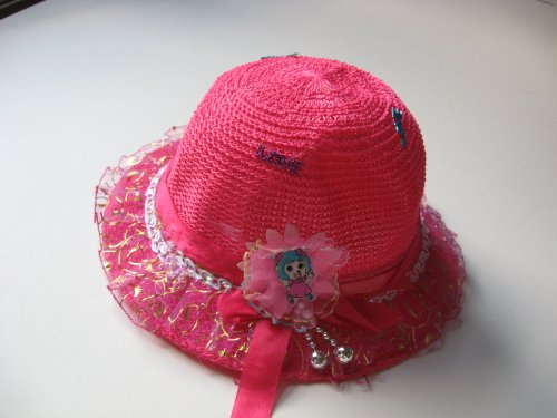 Baby Girl Fushia Summer Hat With Robbon