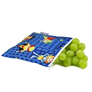 """Snack Happened Playground Superheroes Snack Bag 7"""" by Itzy Ritzy"""