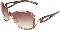 Omnesta Women's Oval Sunglasses (Brown) (PD019)