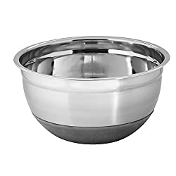 Montstar Professional Stainless Steel Extra Deep Mixing Bowls With Non Slip Silicone Base - 30 cm