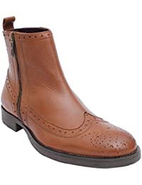Salt N Pepper Ray Almond 100% Genuine Leather Men Boots
