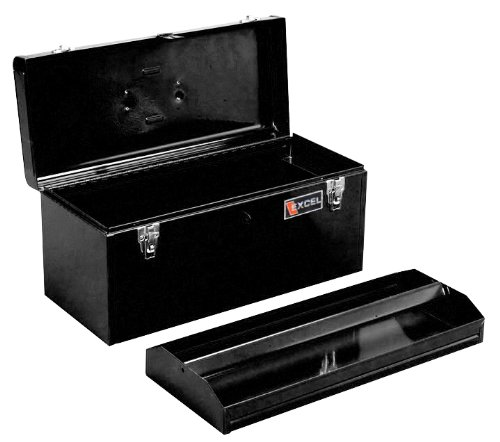 Excel TB140-Black 20-Inch Portable Steel Tool Box, Black (Steel Toolbox Hinge compare prices)