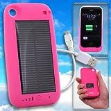 【iPhone3G/3GS専用】ソーラーハイブリッド充電ケース solar charge jacket-i(ピンク)【ギフトショー春2010出品商品】