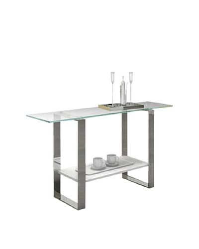 Casabianca Furniture Clarity Console Table, White