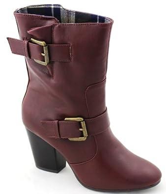 Mootsies Tootsies Lubuff Womens High Heel Boots Med Brown Sy 6