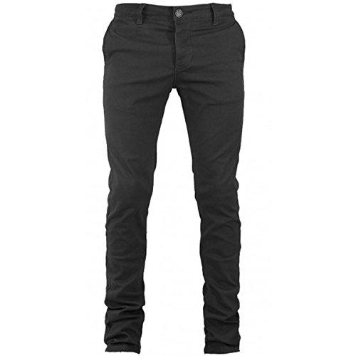 Pantalone Uomo Tasca America Cotone Chino Elastico Colori Vari Slim GIOSAL-Grigio Scuro-54