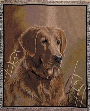 Simply Home Golden Retriever Tapestry Throw Blanket