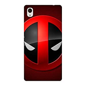 Dead Eye Round Red Back Case Cover for Sony Xperia M4