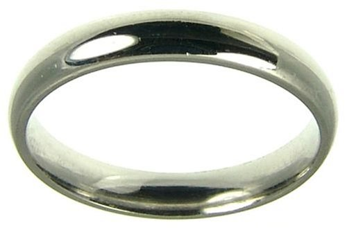Ladies' Wedding Ring, 18 Carat White Gold, Light Court Shape, 3mm Band Width
