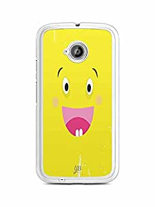 YuBingo Excited Smiley Designer Mobile Case Back Cover for Motorola E2