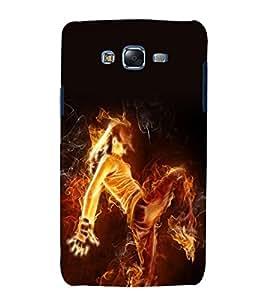 printtech Flaming Dance Girl Back Case Cover for Samsung Galaxy J5 / Samsung Galaxy J5 J500F