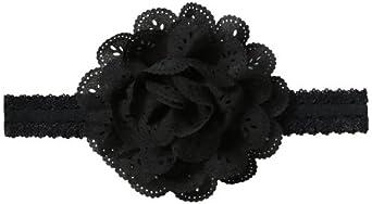 No Slippy Hair Clippy Baby-Girls Infant Emerson Headband, Black, One size