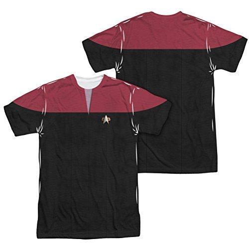 Sublimation Front/Back: Voyager Command Uniform Costume Star Trek The Next Generation T-Shirt (Star Trek Voyager Costume)