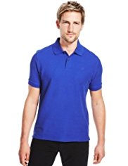 Blue Harbour Slim Fit Pure Cotton Piqué Polo Shirt with StayNEW™