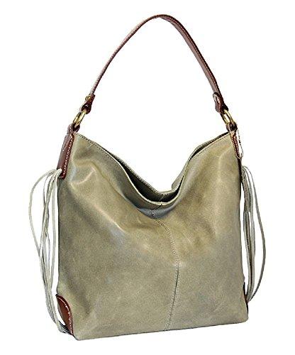 ladies-designer-100-vintage-leather-hobo-handbag-shopper-shoulder-bag-grun