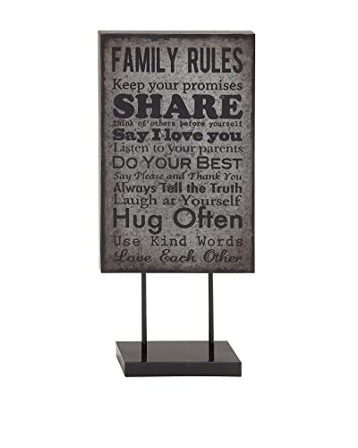 Metal Table Plaque