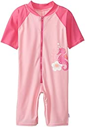 i play. Baby One Piece Swim Sunsuit, Pink Seahorse, 12 Months