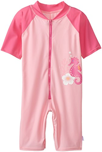 i play. Baby Girls' One Piece Sunsuit Pink Seahorse, Pink, 6 12 Months