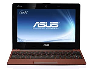 Asus R11CX-RED002S 25,7 cm (10,1 Zoll) Netbook (Intel Atom N2600 , 1,6 GHz, 1GB RAM, 320GB HDD, Win 7 Starter) rot