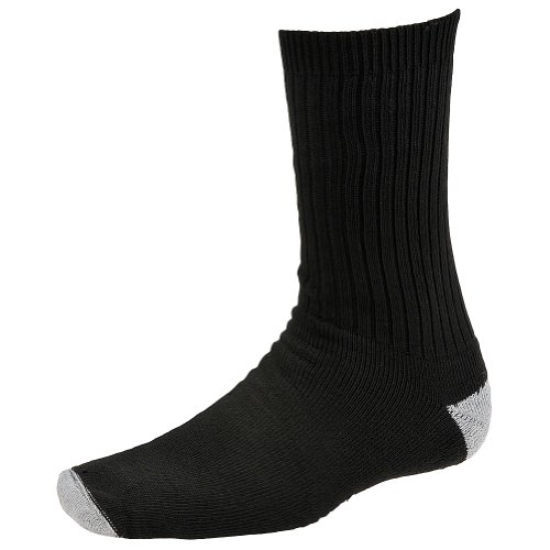 WigWam Diabetic Sport Crew Socks, X-Large, Black