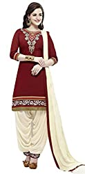 Lakshmi Fashion Creation Women's Cotton Dress Material ( Maroon )