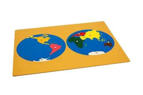 Montessori Puzzle Map of World Parts w/ Control