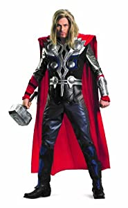Disguise Thor Avengers Theatrical Adult Licensed Cotume, Black/Blue/Red/Silver, XX-Large (50-52) Costume
